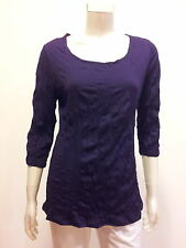EVERSUN Women's 3/4 Sleeve Crushed Jersey top Dark Purple Size 10,12,14,16,18,20