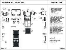 Hummer H2 03-07 Real Carbon Fiber Dash Kit Trim Dashboard HMR-H2-1A