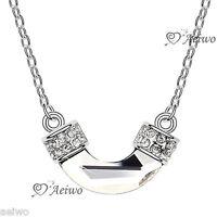 18k white gold gf made with Swarovski crystal pendant fashion necklace aeiwo