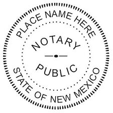 Notary - New Mexico Custom Round Self-Inking NOTARY SEAL RUBBER STAMP Ideal 400R