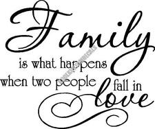 Family Is People In Love Interior Home Vinyl Decal F022