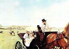(10741) Postcard Edgar Degas Carriage at the Races