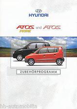 Hyundai Atos Prime Zubehör Prospekt 1/02 brochure 2002 Auto PKWs Korea Asien