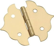 """NEW STANLEY 803410 PK 2 BRIGHT BRASS 1 1/8"""" DECORATIVE CABINET HINGES 6793608"""