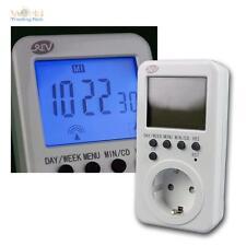 Zeitschaltuhr, digital mit Funk-Uhrzeit 28 Ein/Auschaltzeiten pro Woche, Funkuhr