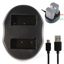 Dual Battery USB Charger For MH-23 EN-EL9 a Nikon D3000 D5000 D60 D40 D40x DSLR