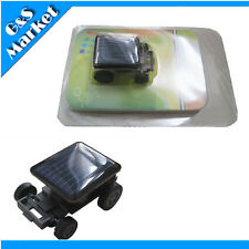 New Cool Nice The World's Smallest Mini Solar Power Toy Car Racer
