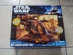 STAR WARS AAT TRADE FEDERATION ARMORED ASSAULT TANK CLONE WARS 2010 HASBRO 3.75""
