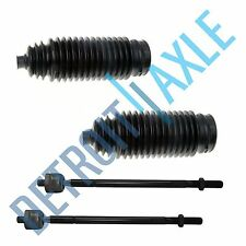Both (2) New Inner Tie Rod Ends + 2 Rack and Pinion Tie Rod Boots -Toyota Camry