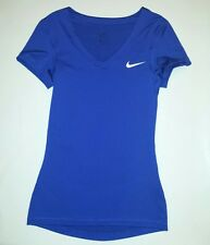 Nike Women X Small Victory Baselayer Short-Sleeve Dri Fit T Shirt V Neck New