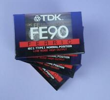 TDK FE90 IECI/TYPE 1,  Four Blank Audio Cassette Tapes, Unused & Sealed