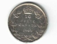 CANADA 1904 10 CENTS DIME KING EDWARD VII STERLING SILVER CANADIAN COIN
