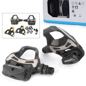 SPD SL Pedals PD R550 Clipless Road Mountain Bike Pedal w/ 6° Float Cleats Plate