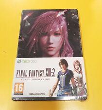 Final Fantasy XIII-2 Steelbook Nuova Sigillata NO GIOCO XBOX 360 Bonus Preorder