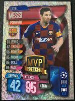 2020-21 Topps Match Attax CL MVP 2019/20 Lionel Messi Barcelona #CBAR INVEST