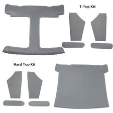 T-Top or Hard Top Headliner Kit w/ Sail Panels & Sun Visors Medium Dove Gray
