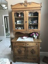 High Quality Solid oak Step 2 Part Hutch circa 1900 Cabinet