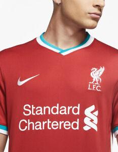 Nike Liverpool Red Home 2020-2021 Stadium Soccer Jersey Football Dri-Fit Medium