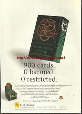 Legend Of The Five Rings CCG 1997 Magazine Advert #1363