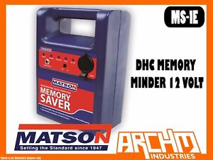 MATSON MS-1E - DHC MEMORY MINDER 12 VOLT - BATTERY AMP CABLE VOLTAGE