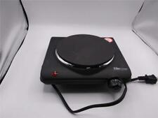 Elite Cuisine ESB-301BF Single Electric Flat Cast Iron Heating Plate Burner Blk