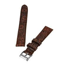 Brentwood Havana 16 мм шириной подлинный ящерица кожаный ремешок