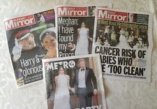 Duke & Duchess Of Sussex Prince Harry Meghan Markle Royal Wedding Press Bundle