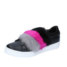 scarpe donna ISLO ISABELLA LORUSSO 38 EU sneakers nero pelle camoscio BZ213-C