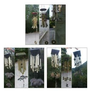 Vintage Metal Multi-tube Solid Wood Bronze Wind Chimes Suitable for Outdoor Yard
