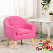 Toddler Leisure Single Sofa Children Chair Furniture w/Armrest Kids Gift Pink