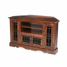 Bengal  sheesham furniture large corner television cabinet stand unit