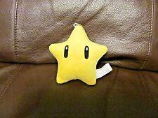 Mario Bros. Yellow Star 3.5 Inches Plush Key Chain (NEW)