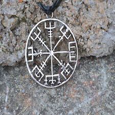 Viking Compass Pendant Necklace Symbol of Norse Runic Necklaces Jewelry HOT