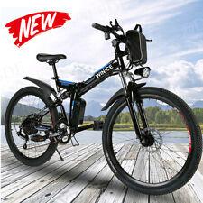 26''Bicicletta Elettrica Mountain E-Bike  Bici Elettrica Pieghevole 21velocità~