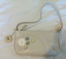 RADLEY leather handbag. Buttons detail and dog tag. Cream/multi.Lovely style.Vgc