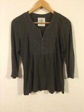 H&M Grey Top Tshirt Size S 8 -10- <R2424