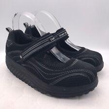 Womens Mary Jane SKECHERS SHAPE-UPS Athletic Shoes Size US 8.5 Black Strap 11807