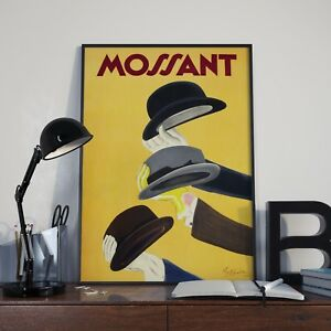 Vintage Mossant French Hat Advertising Poster Print Picture A3 A4