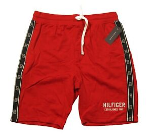 Tommy Hilfiger Sleepwear Men's Red LogoTape Lounge Sleep Shorts
