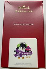 Hallmark 2021 Mom & Daughter Penguins Christmas Ornament New with Box