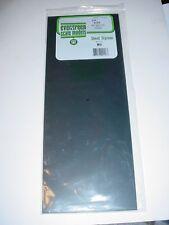 "Evergreen Styrene Sheet Plastic .080 BLACK Scratch Building 2 pcs 21"" x 8"""