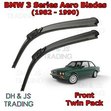 (82-90) BMW 3 Series E30 Aero Wiper Blades Estate Convertible Touring Flat