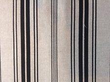 Multi Stripe Linen/cotton Black Curtain Fabric 2.5 metres long x280cm wide