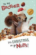 To My Brother Go Nuts Funny Christmas Greeting Card Humour Xmas Cards