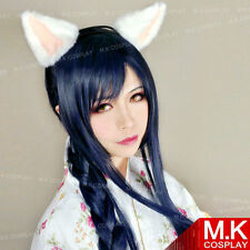 the Nine-Tailed Fox Ahri Long Blue Black LOL League of Legends Cosplay Party Wig