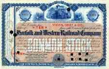 1890 Norfolk & Western Stock Certificate
