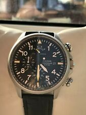 Pulsar by Seiko Aviator VD50 X019 Gents Chronograph Watch Black Leather Strap