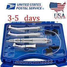 Dental Slow speed handpiece 2H +2x high speed Push Button Cartridge fit NSK USA