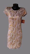 Women's Size X-Small Gold Sequin Dress By Ellen Tracy
