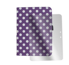 """CASE COVER+SCREEN PROTECTOR STAND PU PURPLE DOT AMAZON KINDLE FIRE HD 7"""" TABLET"""
